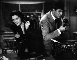 Rosalind Russell and Cary Grant in the 1940 classic His Girl Friday